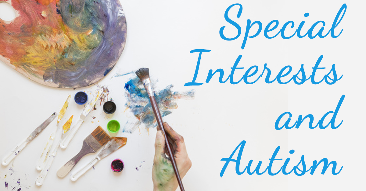 paint brushes showing one of many special interests for individuals on the autism spectrum
